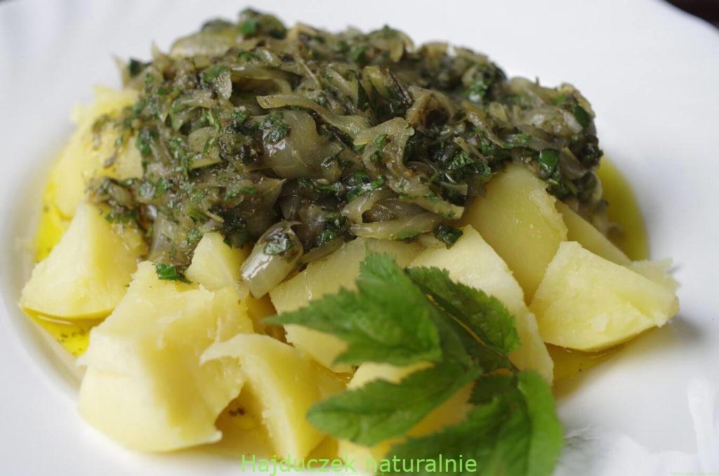 Ziemniaki z nie-smażoną cebulą