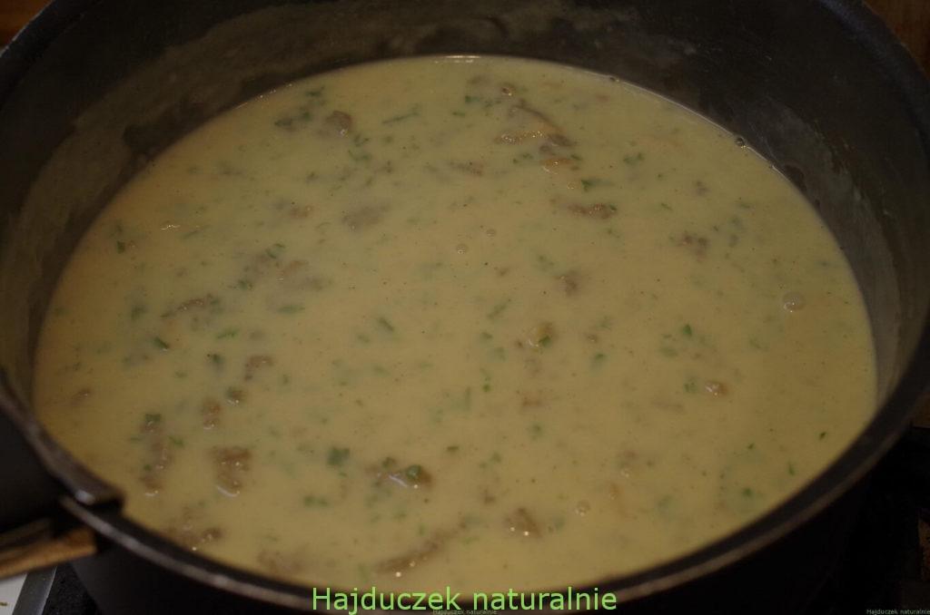 tagliatelle z sosem smardzowym