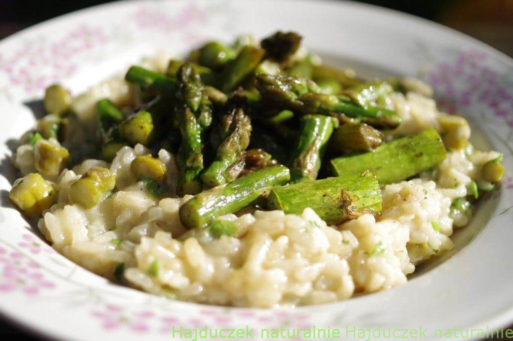 risotto potrójnie szparagowe