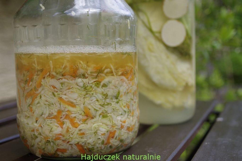 kapusta kiszona z marchewką i koperkiem