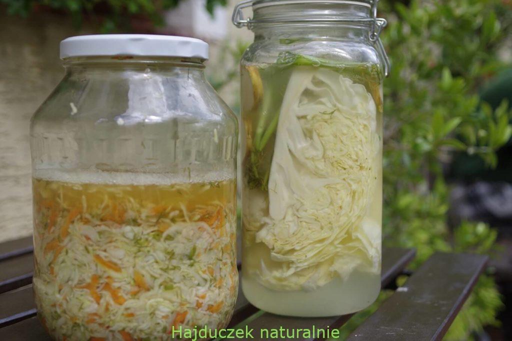 kiszona kapusta z marchewką i koperkiem