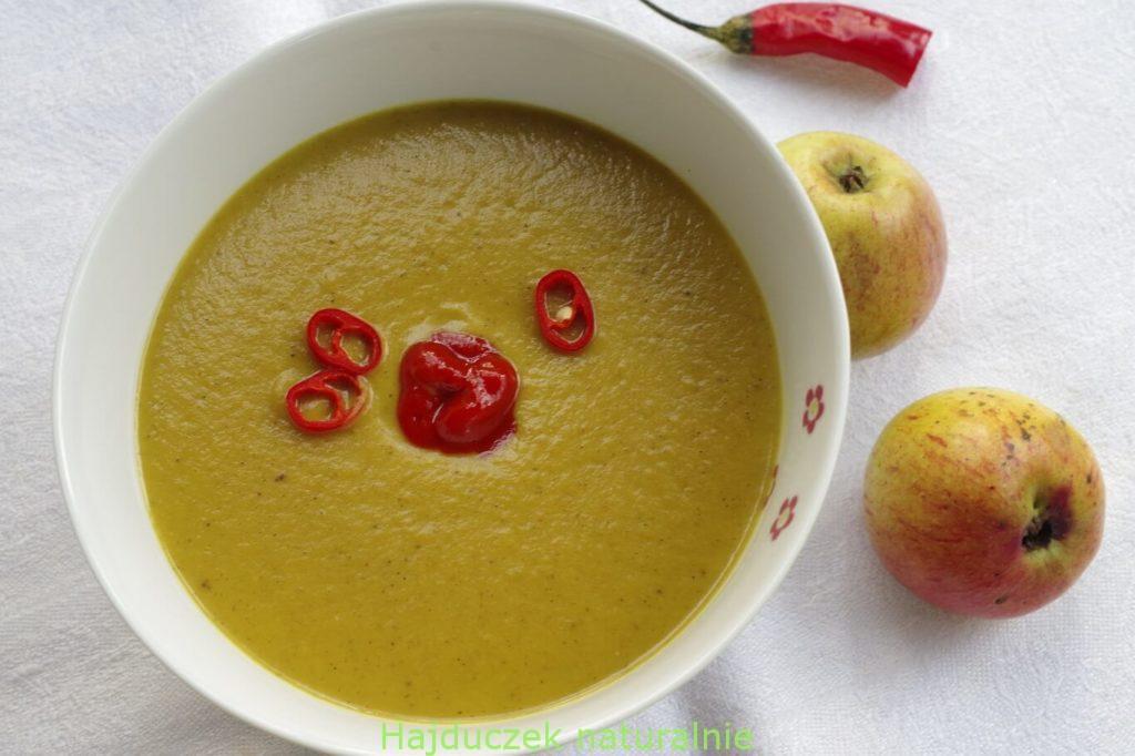 szybka zupa z pieczonej dyni
