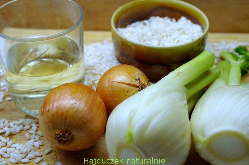 risotto z fenkułem